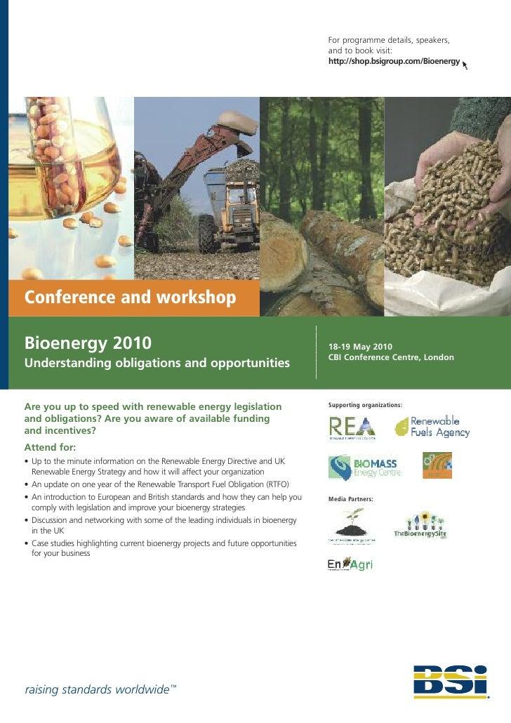 BSI Bioenergy Conference, 2010