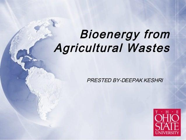 Bioenergy from ag_waste