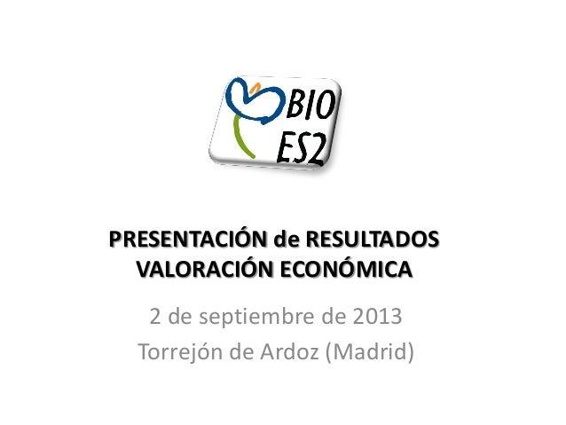 Bioes2, núcleos urbanos y sus recursos naturales