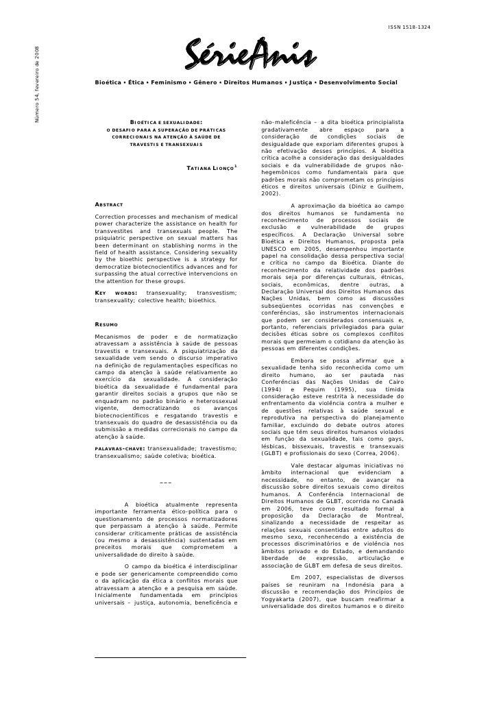 ISSN 1518-1324                                                                   SérieAnisNúmero 54, fevereiro de 2008    ...