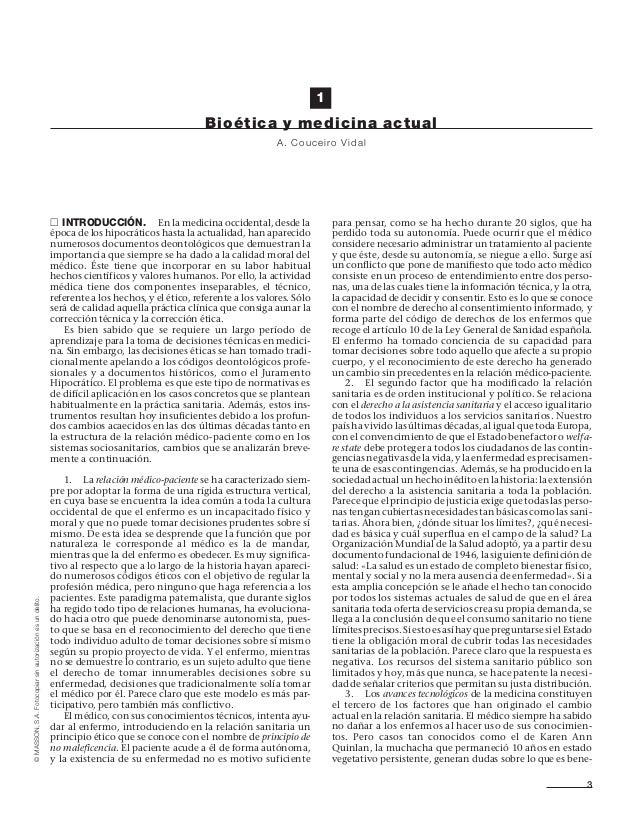 ©MASSON,S.A.Fotocopiarsinautorizaciónesundelito. ᮀ INTRODUCCIÓN. En la medicina occidental, desde la época de los hipocrát...