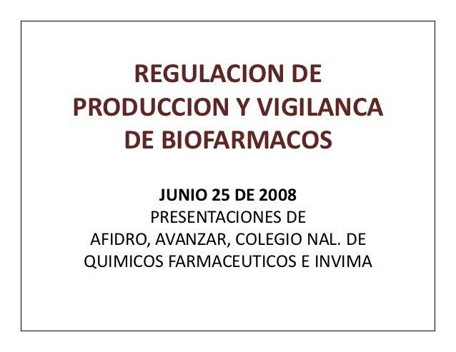 Biofarmacos presentaciones