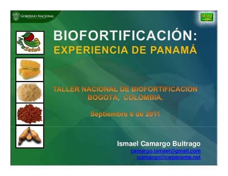 Ismael Camargo Buitrago   camargo.ismael@gmail.com     icamargo@cwpanama.net