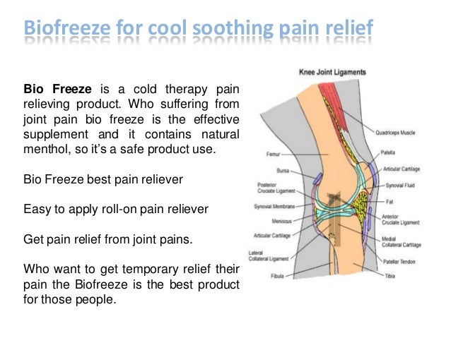 Bio Freeze is a cold therapy pain relieving product. Who suffering from joint pain bio freeze is the effective supplement ...