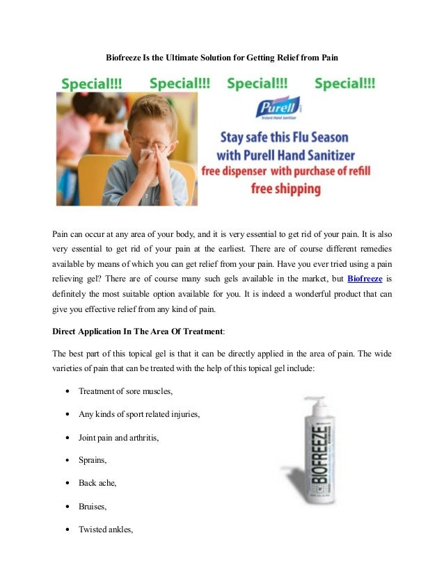 Biofreeze Is the Ultimate Solution for Getting Relief from PainPain can occur at any area of your body, and it is very ess...