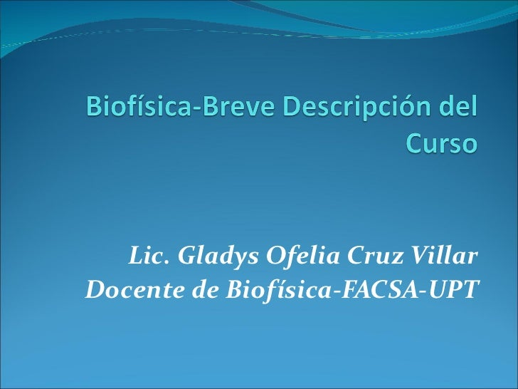 Biofísica slide share