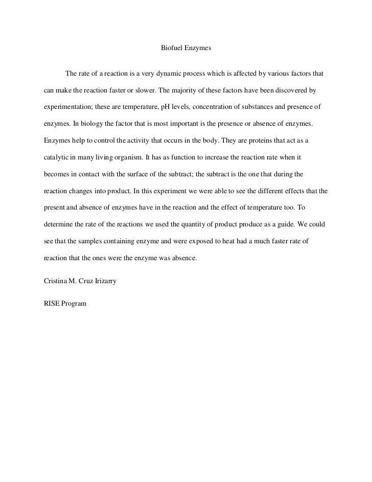 Biofuel enzymes paragraph