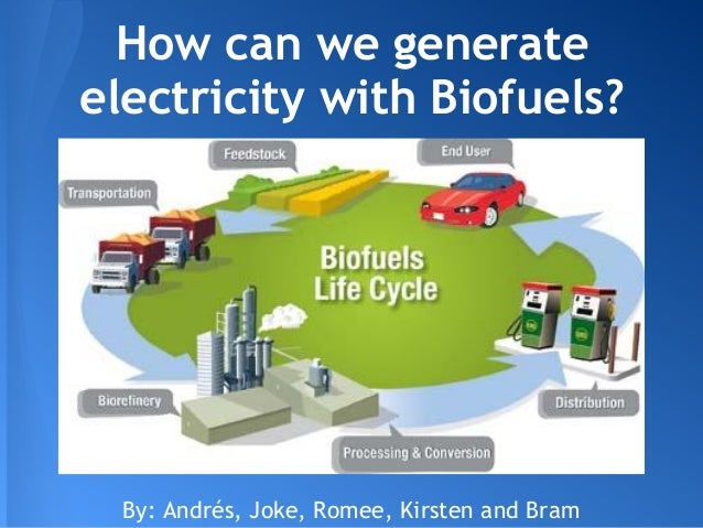 How can we generateelectricity with Biofuels?  By: Andrés, Joke, Romee, Kirsten and Bram