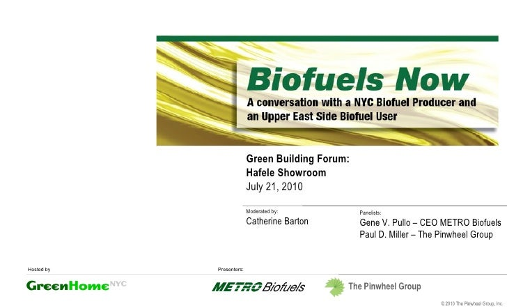 Green Building Forum: Hafele Showroom July 21, 2010 Moderated by: Catherine Barton Panelists: Gene V. Pullo – CEO METRO Bi...