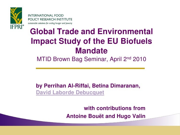 IFPRI study on Biofuels for the European Commission