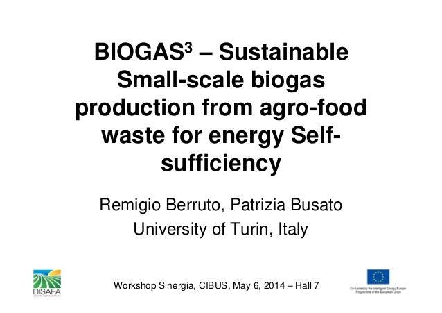 Biogas3 en cibus producción sostenible de biogás en el sector agroalimentario hacia el autoconsumo energético