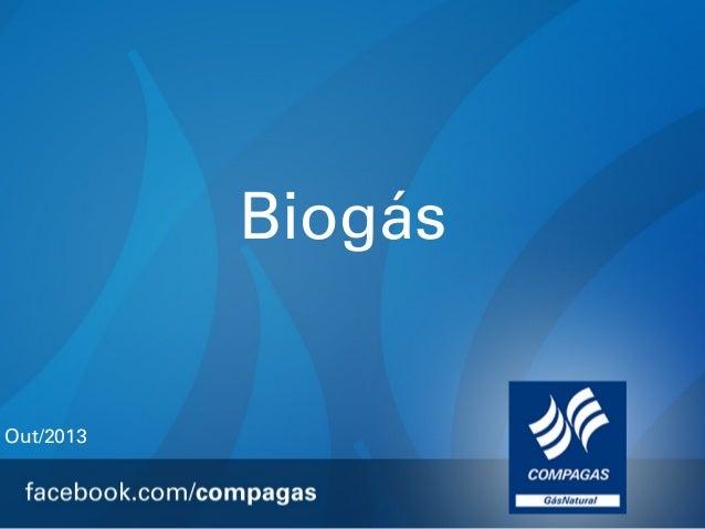 Biogás  Out/2013