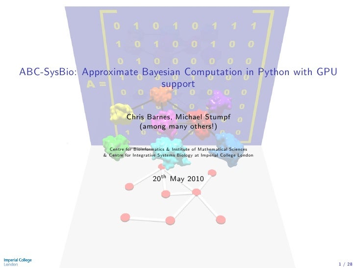 ABC-SysBio: Approximate Bayesian Computation in Python with GPU                             support                       ...