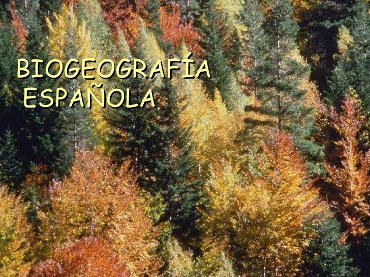 BIOGEOGRAFÍA ESPAÑOLA<br />