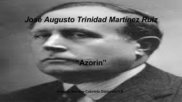 Biografía  azorin-