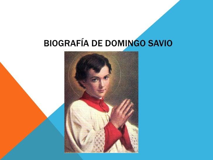 Biografía de domingo savio