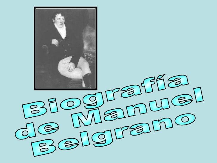 Biografía manuel belgrano
