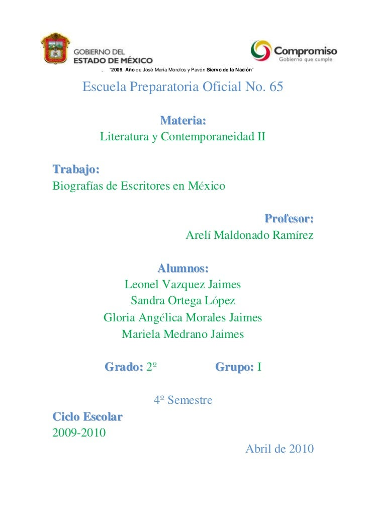 Biografías de Escritores Mexicanos