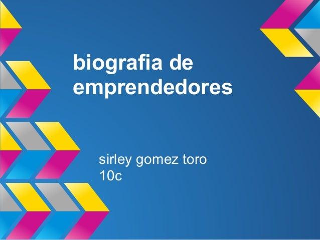 Biografia de emprendedores
