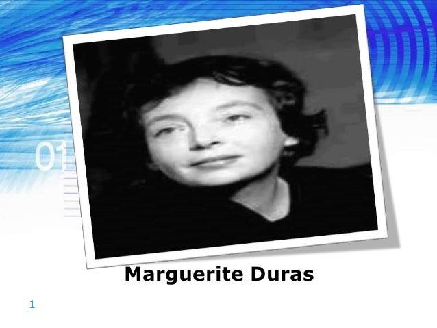 1 Marguerite Duras