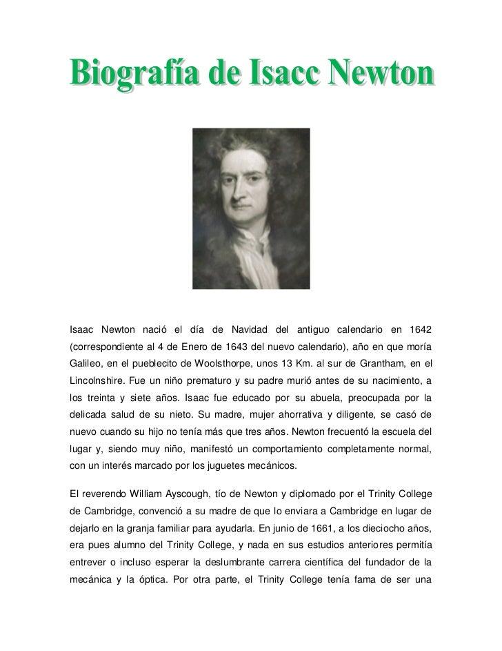biografia newton