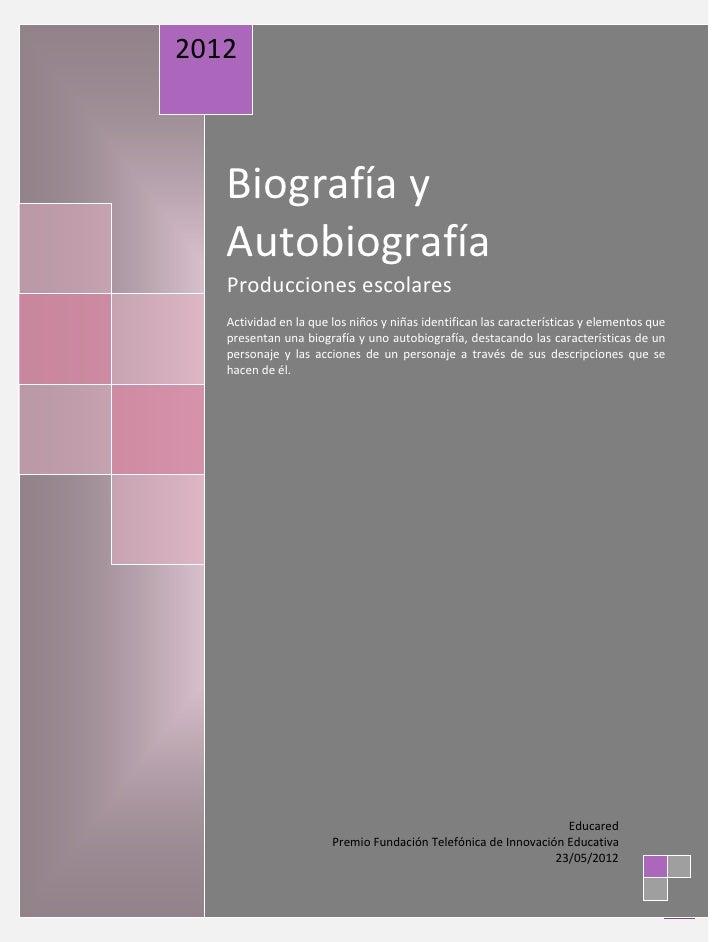 Biografias y autobiografias