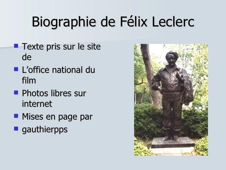 Biographie de Félix LECLERC