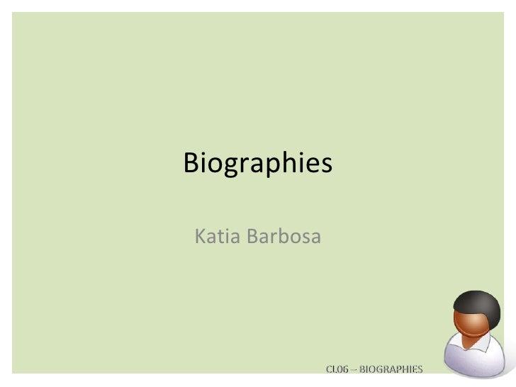 Biographies Katia Barbosa