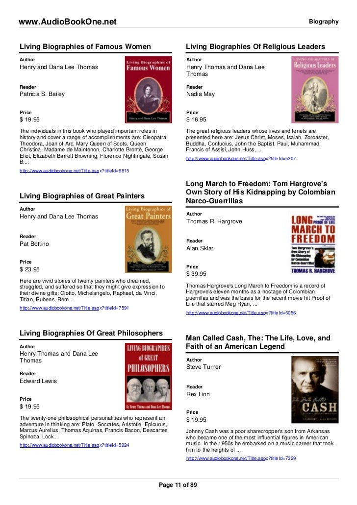 Biographies of Famous Women of Famous Women Living