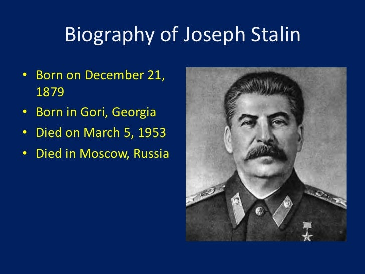 a biography of joseph stalin Joseph stalin is a man who defines the phrase cult of personality he killed millions of his own people, enslaved millions more in a prison system.