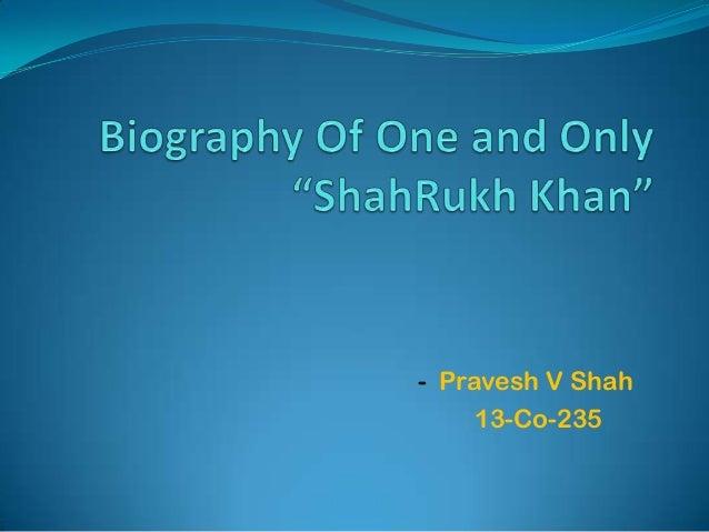 - Pravesh V Shah 13-Co-235