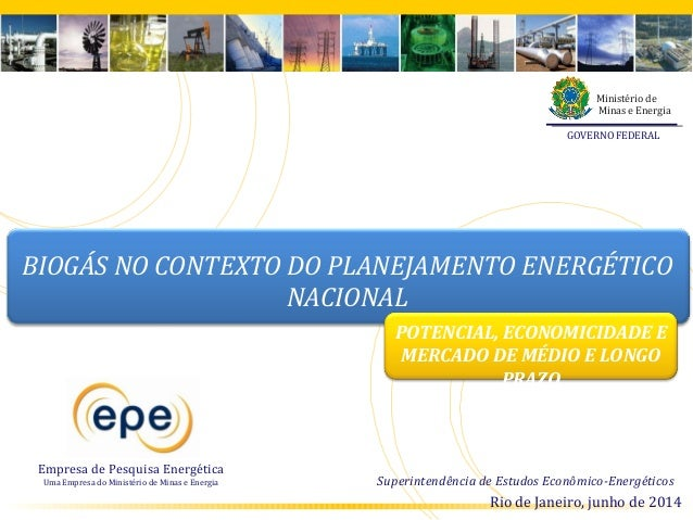 Biogás no planejamento energético nacional