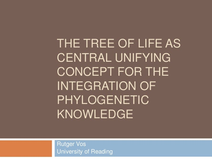 The Tree of Life as central unifying concept for the integration of phylogenetic knowledge<br />Rutger Vos<br />University...