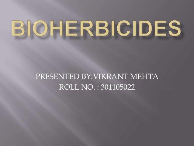 Bioherbicides