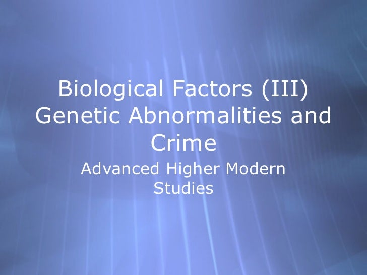biological theories of crime essay Theories of crime and deviance a biological theory of deviance proposes that an individual deviates from social norms largely because of their biological makeup.
