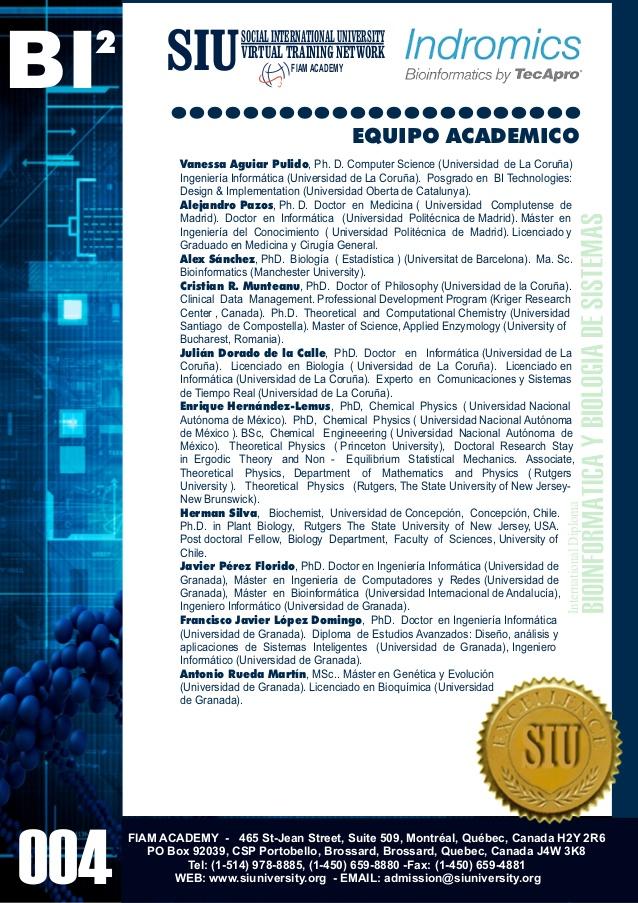 Bioinformatics en espa�ol