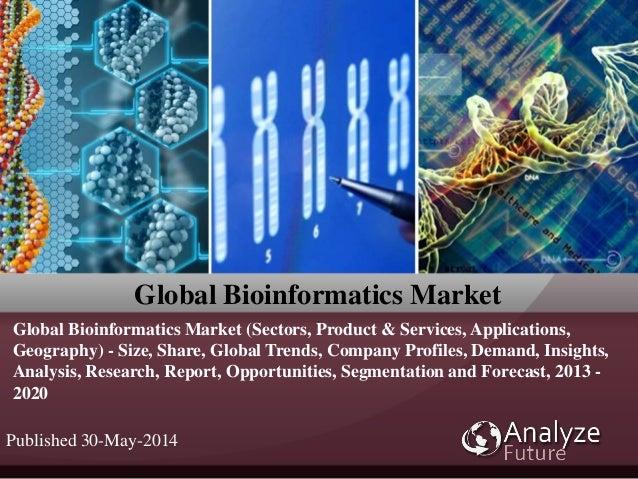 Global Bioinformatics Market Global Bioinformatics Market (Sectors, Product & Services, Applications, Geography) - Size, S...