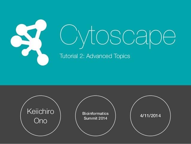 Cytoscape Tutorial Session 2 at UT-KBRIN Bioinformatics Summit 2014 (4/11/2014)
