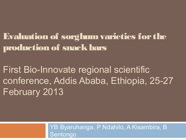 Evaluation of sorghum varieties for the production of snack bars
