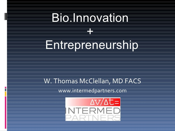 BioInnovation presentation