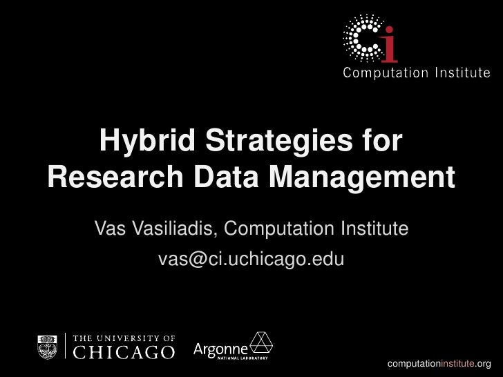 Hybrid Strategies for Research Data Management