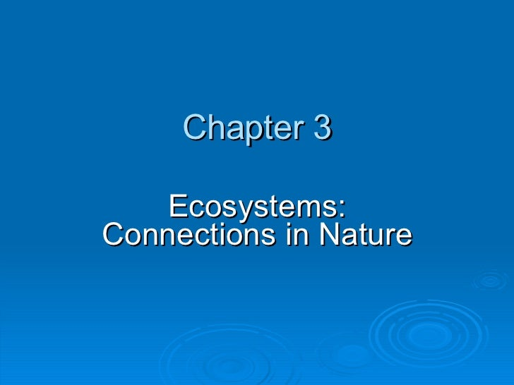 Ecosystems: How do they work?