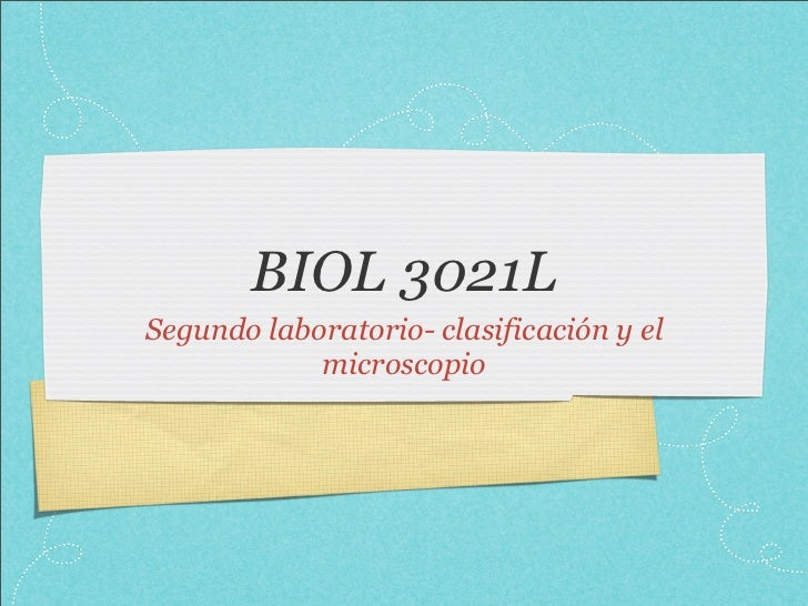 Biol 3021 lab. 2