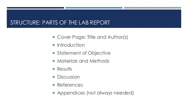 lab report how to write a discussion