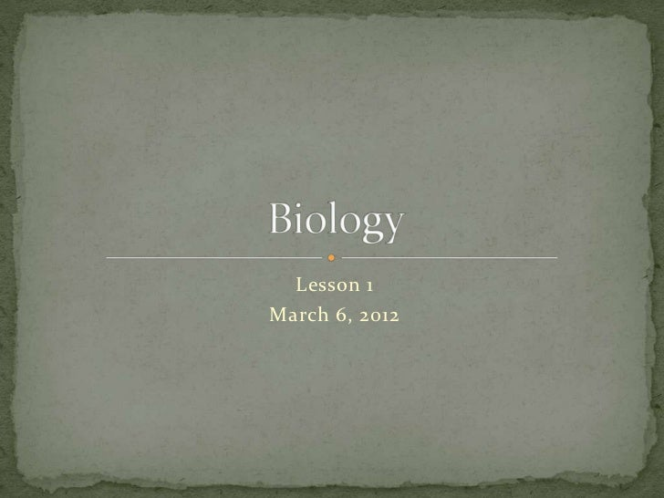 Bio lesson1 introduction