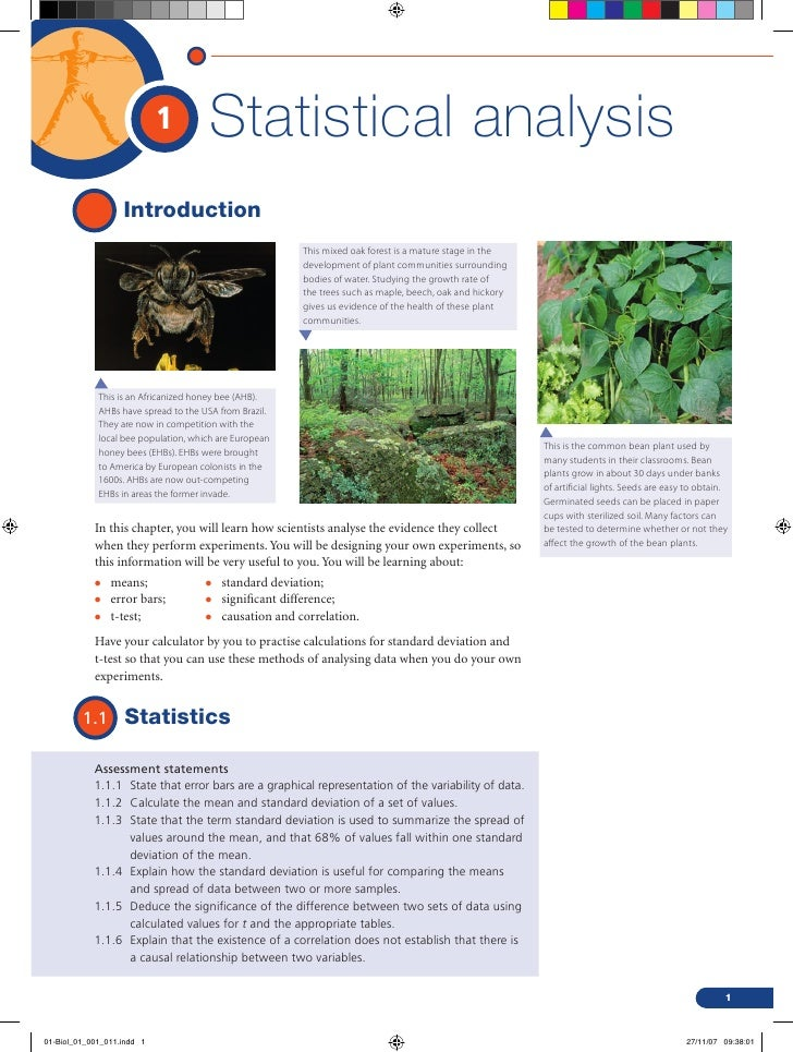 1         Statistical analysis                   Introduction                                                        This ...