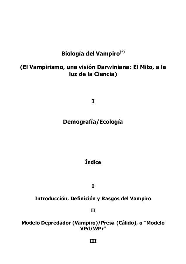 Biología del vampiro
