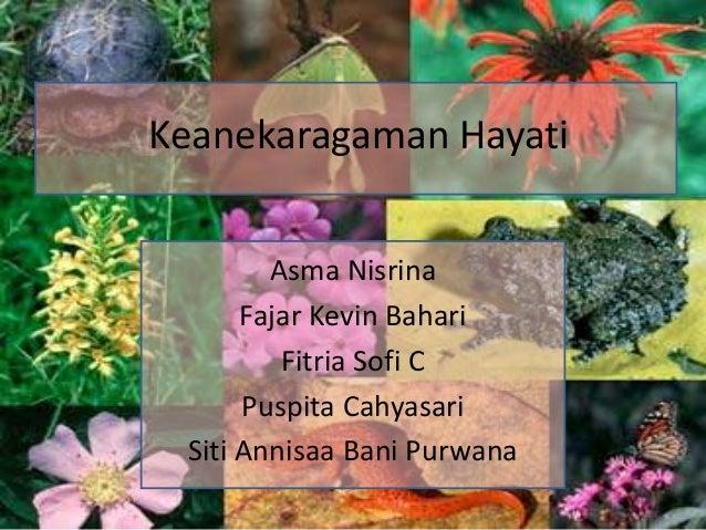 Keanekaragaman Hayati        Asma Nisrina      Fajar Kevin Bahari         Fitria Sofi C      Puspita Cahyasari Siti Annisa...