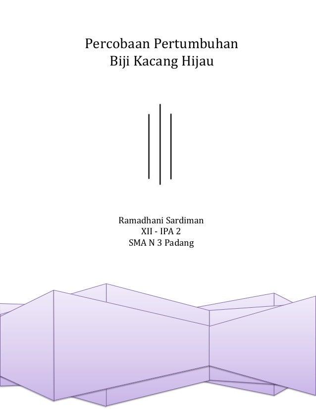 Biologi - Percobaan Pertumbuhan Biji Kacang Hijau 2 (Cover)