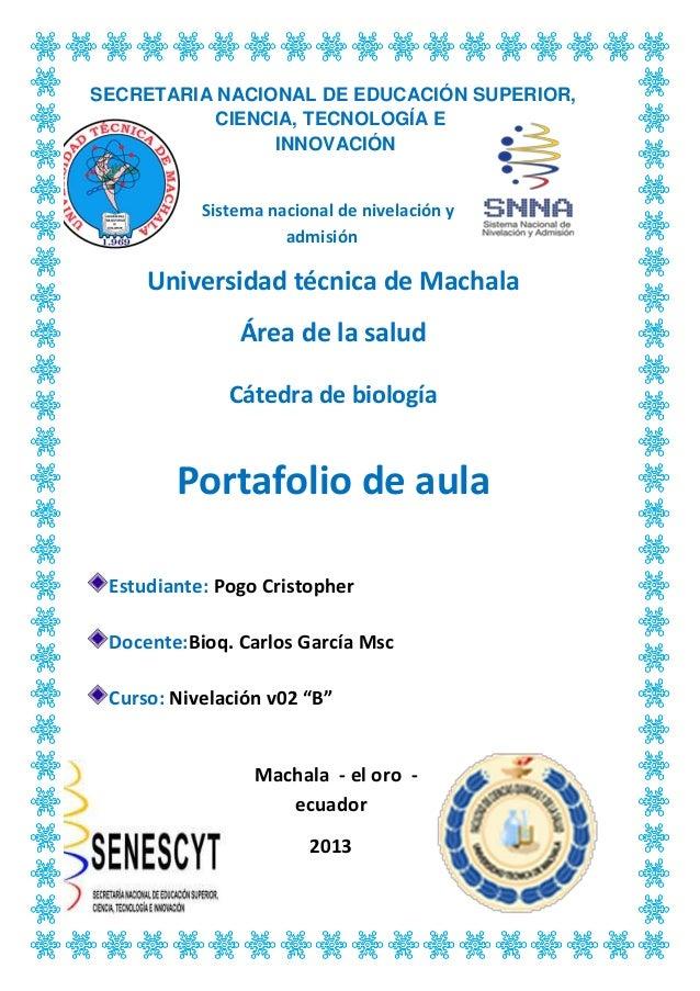 SECRETARIA NACIONAL DE EDUCACIÓN SUPERIOR, CIENCIA, TECNOLOGÍA E INNOVACIÓN Sistema nacional de nivelación y admisión Univ...
